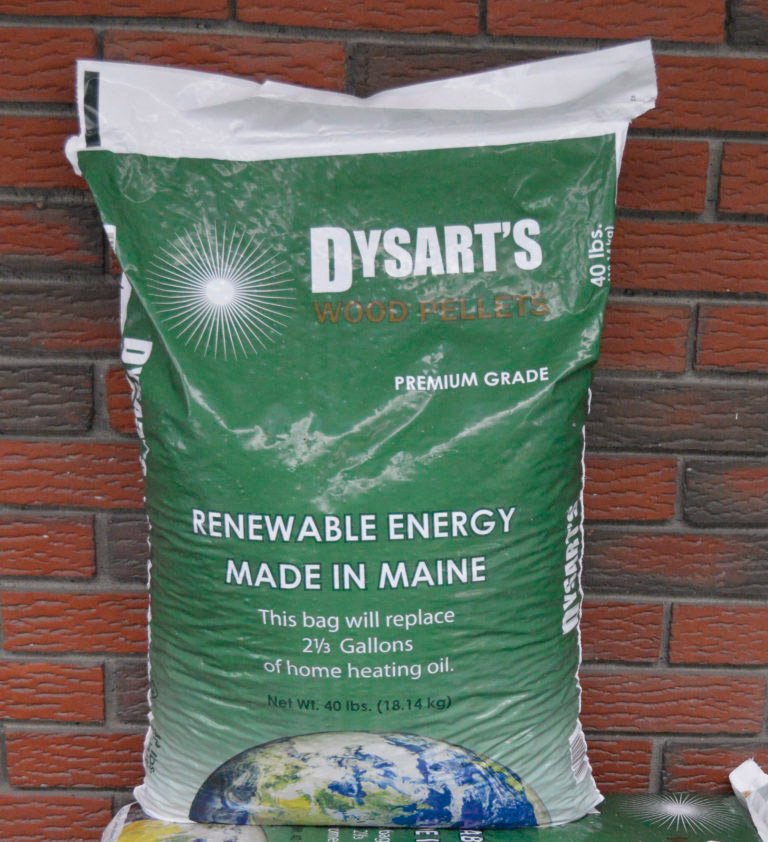 photo of dysart's premium grade wood pellets bag