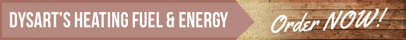 dysart's heating fuel and energy order now graphic banner