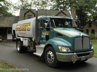 photo of dysart's heating oil truck
